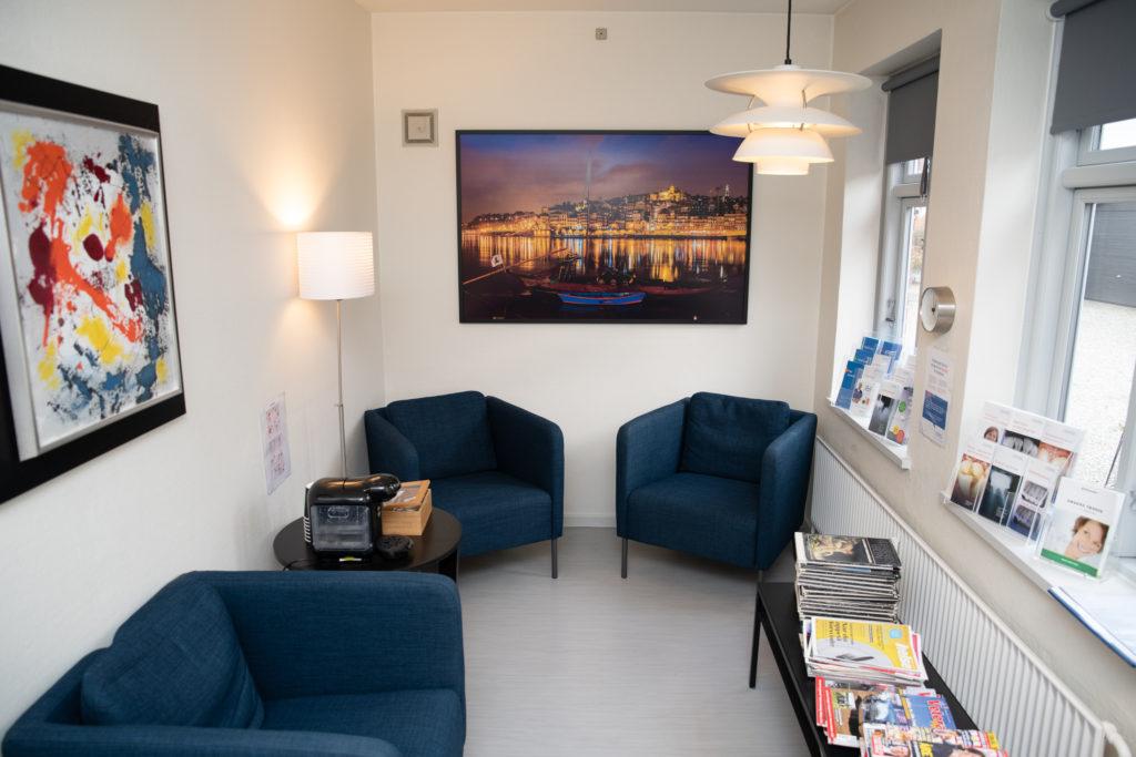Venteværelset i Tandlægehuset Høruphav